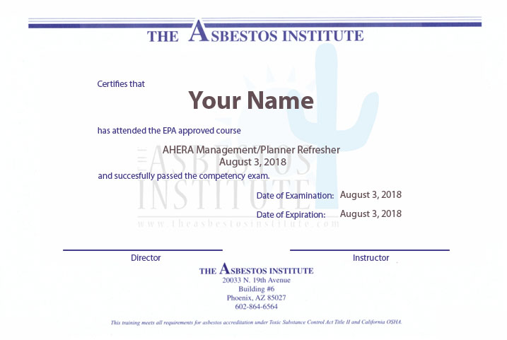 California Asbestos Certification & Training License